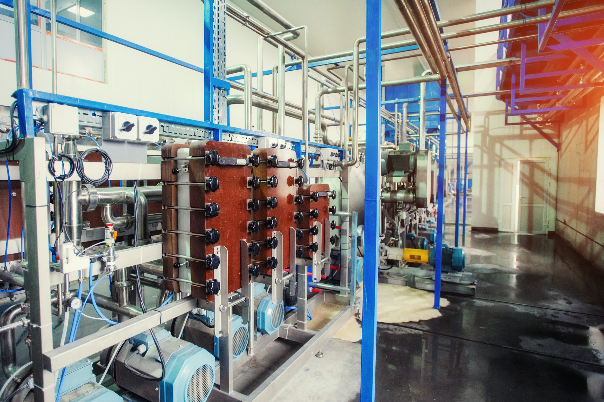 Equipment of the technology for making starch